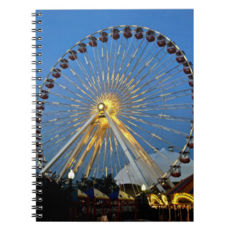USA, Illinois, Chicago, Cityscapes, Lighted Note Books