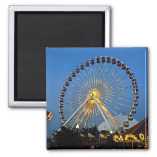 USA, Illinois, Chicago, Cityscapes, Lighted Square Magnet