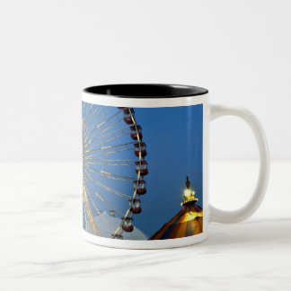 USA, Illinois, Chicago, Cityscapes, Lighted Two-Tone Coffee Mug