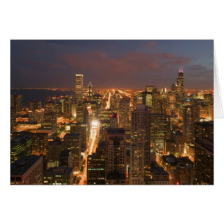 USA, Illinois, Chicago: Evening View of The Loop 2 Card