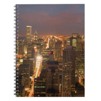 USA, Illinois, Chicago: Evening View of The Loop 2 Notebooks