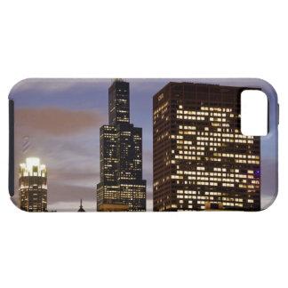 USA, Illinois, Chicago, Illuminated skyscrapers iPhone 5 Cases