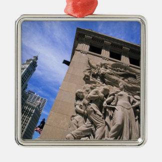 USA, Illinois, Chicago, Michigan Avenue Bridge Christmas Ornament
