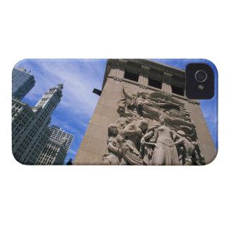 USA, Illinois, Chicago, Michigan Avenue Bridge iPhone 4 Covers