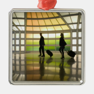 USA, Illinois, Chicago: O'Hare International Christmas Ornament