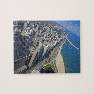 USA, Illinois, Chicago shore seen from Hancock Jigsaw Puzzle