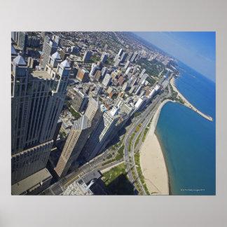 USA, Illinois, Chicago shore seen from Hancock Poster
