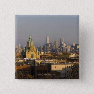 USA, Illinois, Chicago skyline 15 Cm Square Badge
