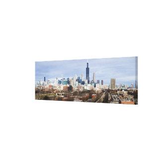 USA, Illinois, Chicago skyline 2 Canvas Print