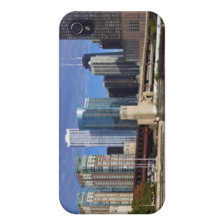USA, Illinois, Chicago skyline across river iPhone 4/4S Cases