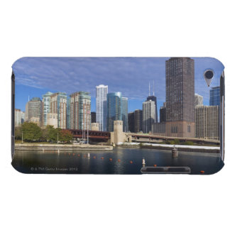 USA, Illinois, Chicago skyline across river iPod Touch Cover
