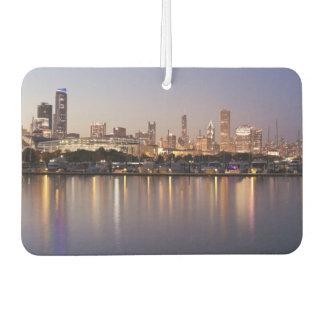 USA, Illinois, Chicago skyline at dusk Car Air Freshener