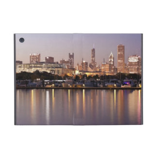 USA, Illinois, Chicago skyline at dusk Cases For iPad Mini