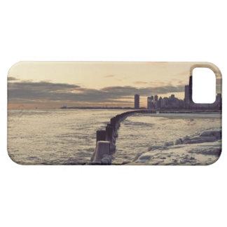 USA, Illinois, Chicago, Skyline at sunrise Case For The iPhone 5