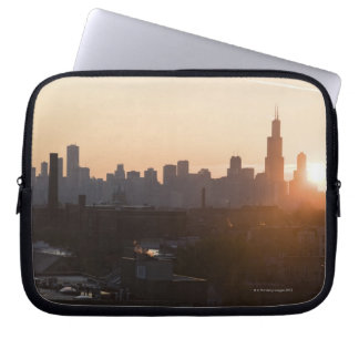 USA, Illinois, Chicago skyline at sunrise Computer Sleeves