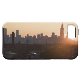 USA, Illinois, Chicago skyline at sunrise iPhone 5 Case