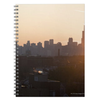 USA, Illinois, Chicago skyline at sunrise Notebook