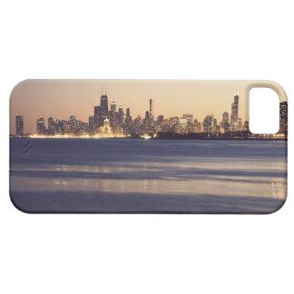 USA, Illinois, Chicago, Skyline at sunset iPhone 5 Case