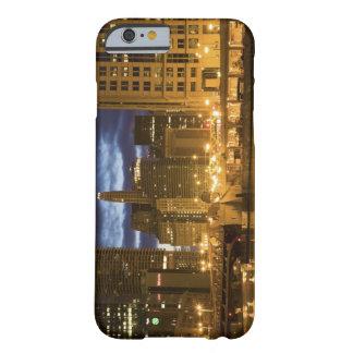 USA, Illinois, Chicago skyline illuminated at Barely There iPhone 6 Case