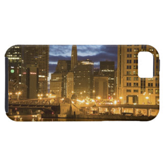 USA, Illinois, Chicago skyline illuminated at Tough iPhone 5 Case