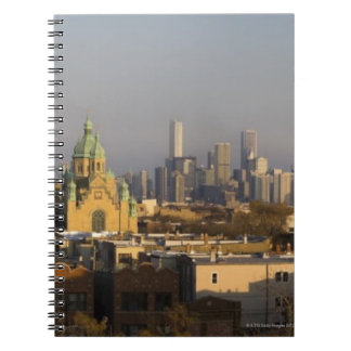 USA, Illinois, Chicago skyline Notebook