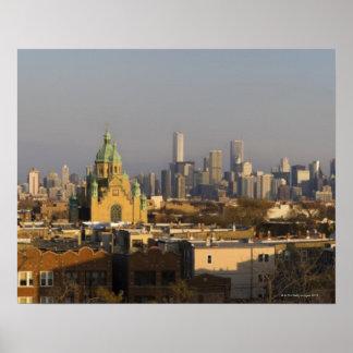 USA, Illinois, Chicago skyline Poster