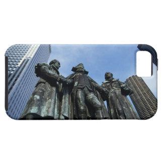 USA, Illinois, Chicago, skyscraper and statue iPhone 5 Cases