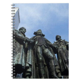 USA, Illinois, Chicago, skyscraper and statue Notebooks