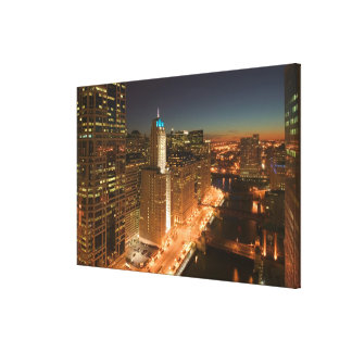USA, Illinois, Chicago: The Loop: Buildings Canvas Print