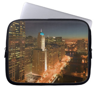 USA, Illinois, Chicago: The Loop: Buildings Laptop Sleeve