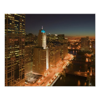 USA, Illinois, Chicago: The Loop: Buildings Poster