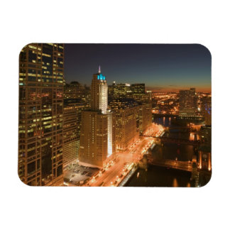 USA, Illinois, Chicago: The Loop: Buildings Rectangular Photo Magnet
