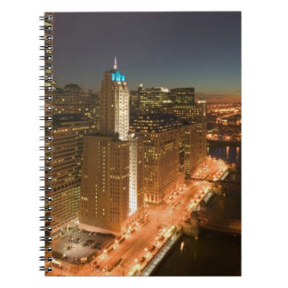 USA, Illinois, Chicago: The Loop: Buildings Spiral Notebook