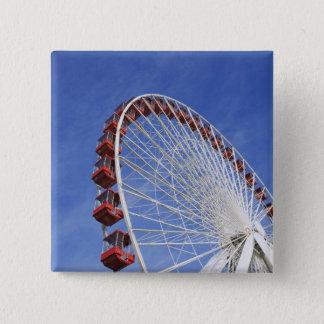 USA, Illinois, Chicago. View of Ferris wheel 15 Cm Square Badge