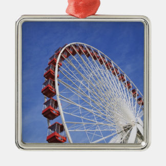 USA, Illinois, Chicago. View of Ferris wheel Christmas Ornament