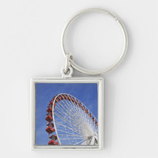 USA, Illinois, Chicago. View of Ferris wheel Key Ring