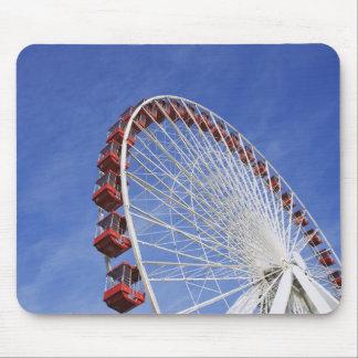 USA, Illinois, Chicago. View of Ferris wheel Mouse Mat