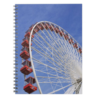 USA, Illinois, Chicago. View of Ferris wheel Notebooks