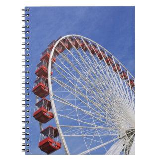 USA, Illinois, Chicago. View of Ferris wheel Spiral Note Books