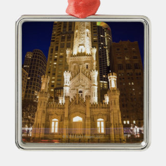 USA, Illinois, Chicago, Water Tower illuminated Christmas Ornament