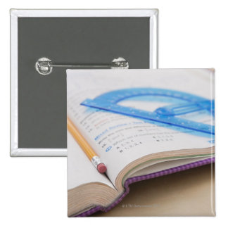 USA, Illinois, Metamora, Maths book 15 Cm Square Badge