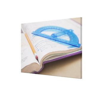 USA, Illinois, Metamora, Maths book Gallery Wrapped Canvas