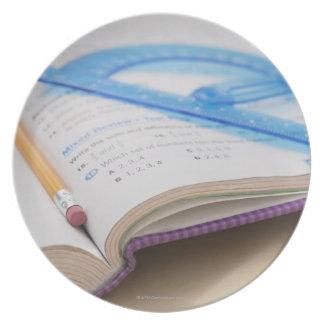 USA, Illinois, Metamora, Maths book Plate