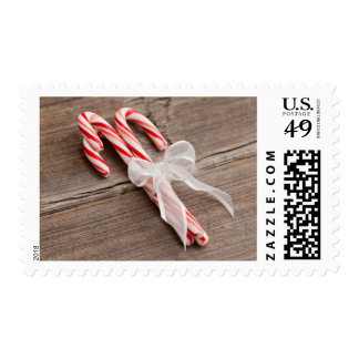 USA, Illinois, Metamora, Peppermint candy canes Postage Stamp