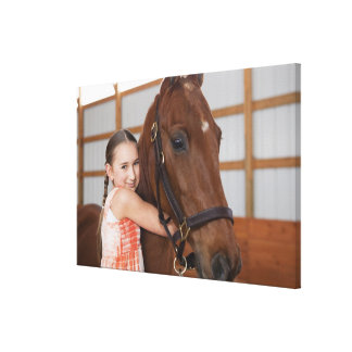 USA, Illinois, Metamora, Portrait of smiling Gallery Wrapped Canvas