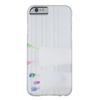 USA, Illinois, Metamora, Various toohbrushes in Barely There iPhone 6 Case