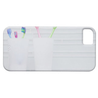 USA, Illinois, Metamora, Various toohbrushes in iPhone 5 Cases