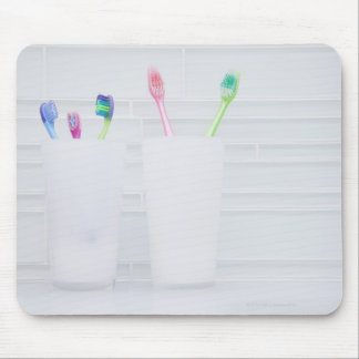 USA, Illinois, Metamora, Various toohbrushes in Mouse Mat