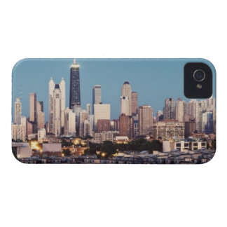 USA, Illinois, North Loop in Chicago panorama iPhone 4 Cases