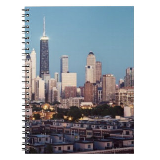 USA, Illinois, North Loop in Chicago panorama Spiral Notebook